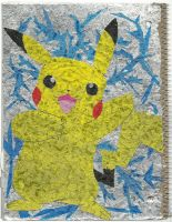 Gum Wrapper Pikachu by Rozara