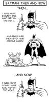 Batman: Then and Now by cat-gray-and-me78