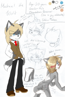 .:Ref:. Michael the Wolf by SilverfanNumberONE
