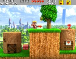 Wonder Boy in monster land 3D by Guile93