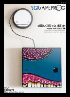 Reduced to TEETH: set1 03 blue by SquareFrogDesigns