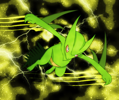 Sceptile sky slash by Elsdrake