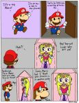 Mario Finds the Wrong Princess Comic by tie-dye-flag