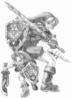 Link and Young Link Stance by jeremymazumia