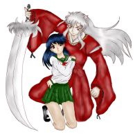 InuyashaxKagome doodle by neochick