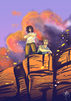 Valley Sunset - Elijah and Jean-Paul SPEEDPAINT by GretheFenyx