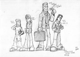 Smallville Sketch 1 by Kmadden2004