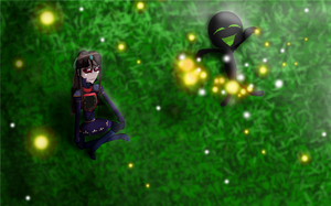 Raf with the fireflies. by KateRdream123