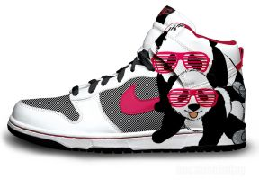 Panda Nike Dunks by becauseimjay