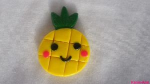 Kawaii Pineapple Magnet by Kame-ami