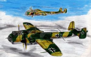 Dornier models DO-17 and DO-217 by Taipu556