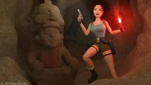 Tomb Raider - 'In The Dark' wallpaper by Roli29