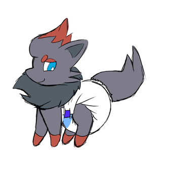 Zorua Diapered~ by Mewzy148