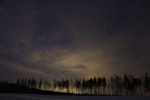 Night sky and light pollution by Antza2