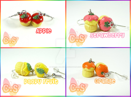 Fruit Muffin Earrings by The-Killer-Anna