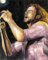 Eddie Vedder, portrait - Retrato by VTAbdala