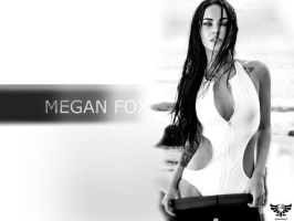 Megan Fox Black n White by ilyas13