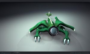 Dragonocular Morphation by 3dmodeling