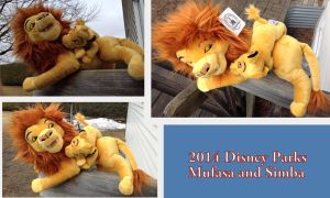 2014 Disney Theme Parks Mufasa and Simba by Laurel-Lion