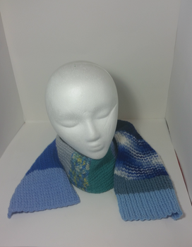 Multicolored Blue Striped Scarf(For Sale) by Schorchingskys