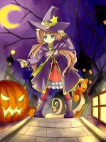 CE : Aimee n Cinnamon ~Halloween Unicorn Witch~ by mzrz
