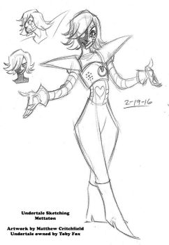 Undertale - Mettaton Sketch 01 - 2-19-16 by Mattartist25