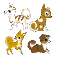 Puppy adopts by Shadowedwerewolf