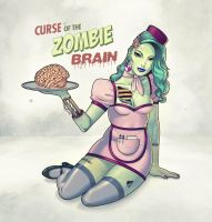 Zombie Pin-Up Girl by Mo-ninja