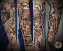 Koi asia tattoo 2. session by 2Face-Tattoo