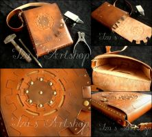 Long Steampunk Shoulder Bag by izasartshop
