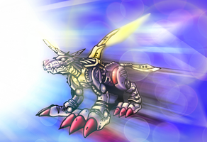 MetalGarurumon by ITACHI90811