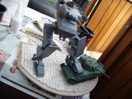 WW2 MECH Paolo Parente's Dust 1/35 diorama wip3 by ThePrinceofMars