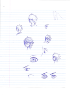 School Sketches... WITH A BLUE PEN! by AngelicDemon82