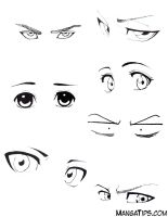 Eye Study/Reference by MangaTips-Com