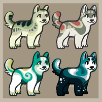 Blue and green puppy adopts (CLOSED) by CrowDesigns