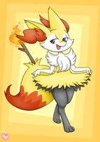 Braixen by CaptainLemmo