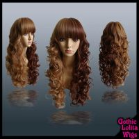 Long Brown Curly Split Wig by GothicLolitaWigs