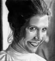 Leia Smiles by khinson