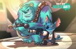 Stitch and Sully as Han Solo and Chewbacca by DustinEvans