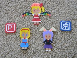 Touhou Character Bead Sprites by Cuttlefish43