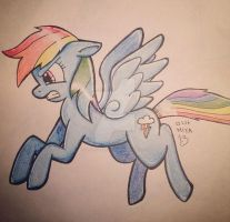 Rainbow Dash Drawing by graveoftherave