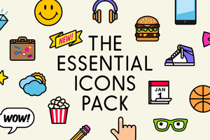 The Essential Icons Pack (140 Icons) by happyfacedesign