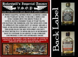 Hakeswill's Imperial Amasec Back Label by JDAtrocityExhibition