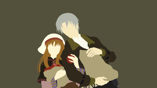 Holo and Lawrence (Spice and Wolf) Minimalistic by Ancors