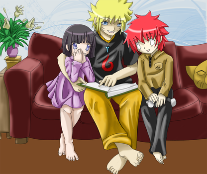 Naruto's Story Time by Moonlightgale
