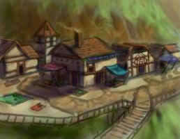 Town Concept by dragonictoni