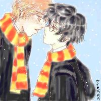 Ron and Harry by Lady-of-Flowers