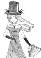 A Sassy Top Hat Girl by AshiriKagee