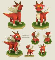 LowPoly Dragon by MoriGuru