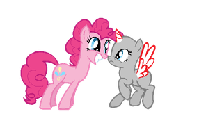 MLP:FiM Base: Your OC meeting Pinkie Pie by caecii